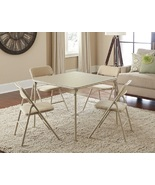 Folding Card Table Chairs Living Room Furniture... - $115.49