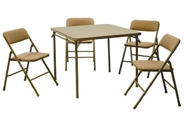Folding Card Table Chair Set Living Room Furniture Patio Entertainment S... - $147.49