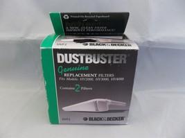 Genuine NOS Black & Decker Dustbuster Replacement Filters HV2000 HV3000 HV4000 - $5.50