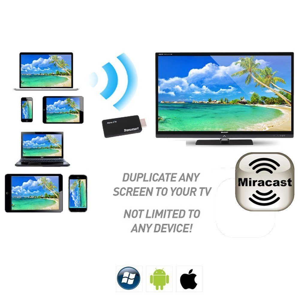 Asus ZE500KL EZCast v2.0 Miracast/DLNA HDMI Adapter for Mirroring/Streaming C...