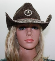 Toyo Cowboy Hat Texas Brooch Straw Cowboy Hat Brown NWT FREE Shipping! - $23.80