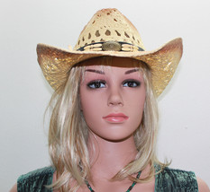 CH70-20 Tea-Stained Toyo Cowboy Hat 100% Paper Cowboy Hat NWT FREE Shipp... - $23.80