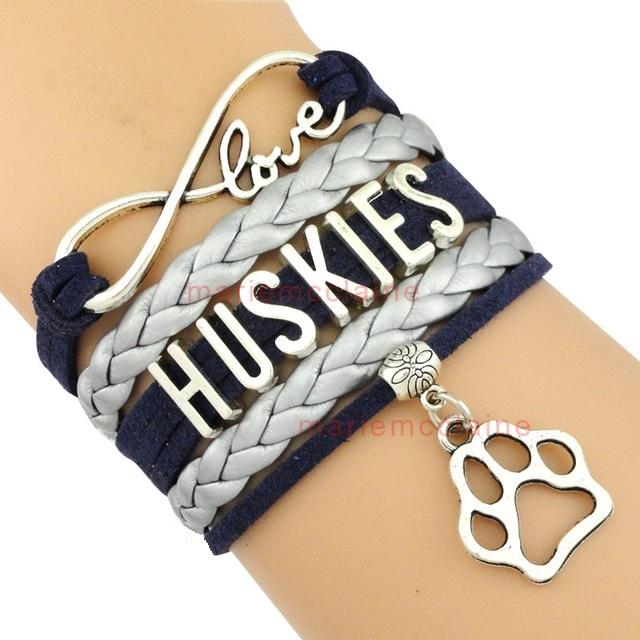 University of Connecticut UCONN Huskies Fan Shop Infinity Bracelet Jewelry