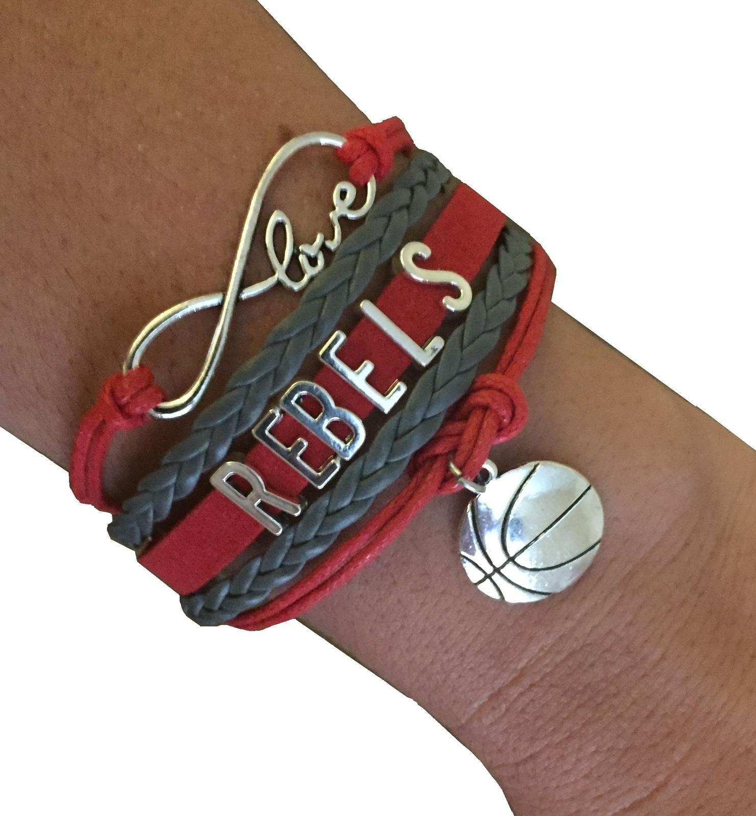 University of Nevada Las Vegas UNLV Rebels Fan Shop Infinity Bracelet Jewelry