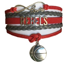 University of Nevada Las Vegas UNLV Rebels Fan Shop Infinity Bracelet Jewelry - $9.99