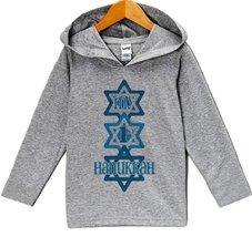Custom Party Shop Baby's My 1st Hanukkah Hoodie Grey 18 Months - $22.05