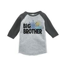 Custom Party Shop Kids Big Brother Happy New Year Raglan Grey 5T - $20.58