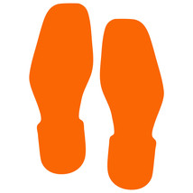 LiteMark Orange Removable Bootprint Decal Stickers - Pack of 12 - $19.95