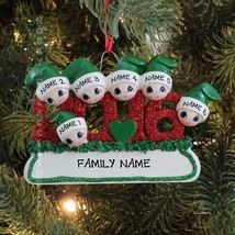 2016 Face Family Of 6 Personalized Christmas Tree Ornament  - $11.83