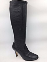 Cole Haan Nike Air Black Leather Pull On Boots Heels size 8.5M Blemished... - $20.75