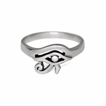 Eye of Horus Ring, Solid 925 Sterling Silver Ring, Egyptian Protection J... - £12.71 GBP