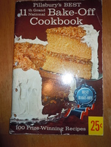 Vintage Pillsbury's Best 11th Grand National Bake-Off Cookbook 1959 - $1.99