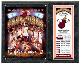 "Miami Heat 2013 NBA Champions Composite Commemorative Plaque  15""x12"" Pl... - $42.95"