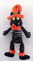 Springy Plush Halloween Black Cat Door Hanger Decoration Cat Toy - $3.99