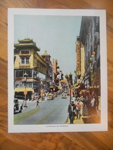 Old Vintage 1944 Picture Print San Francisco California Chinatown 8x10 F... - $9.99