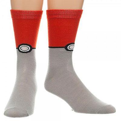 Pokemon And Grey Pokeball Socks Red