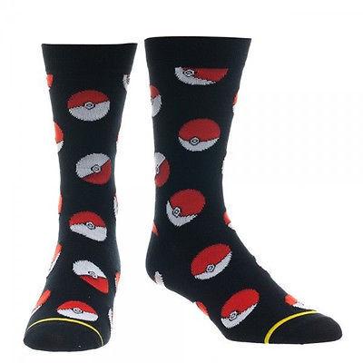 Pokemon Pokeball Knee Socks Black