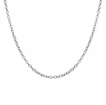 Silver 1mm Cable Necklace, Finished Plain Solid 925 Sterling Silver Chain - $9.00+