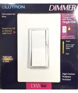 Lutron Diva 600W Single Pole Dimmer (White) - $21.95