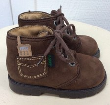 ASTER Brown Suede ANKLE HIKING BOOTS +Pocket 20 FRANCE EURO Boys Shoes 4... - £32.59 GBP
