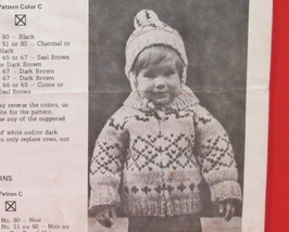 Vintage WHITE BUFFALO Knitting Patterns CHILDRENS Sweater Toque Cap Size... - $4.95