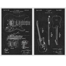 Fender Electric Guitar Invention Patent Print Posters – set of 2 - $22.28+