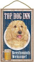 "Top Dog Inn Beerhounds Labradoodle Blonde Bar Sign Plaque dog 10""x16""   - $21.95"