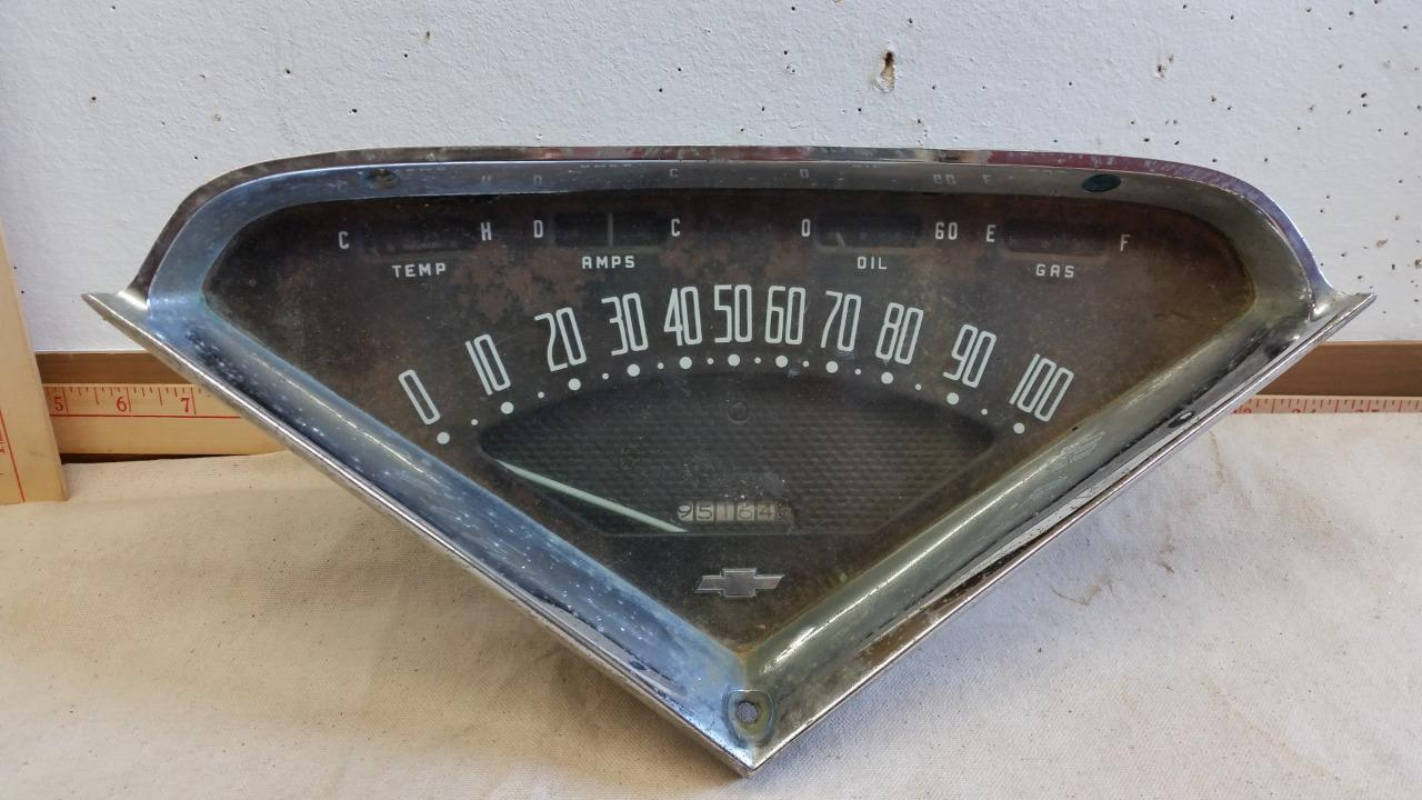 1955 1956 1957 1958 1959 1960 Chevy Chevrolet Truck Speedometer Instrument Panel