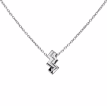 Aquarius Necklace, 925 Sterling Silver Pendant Necklace, Zodiac Symbol H... - $18.00