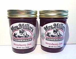 Mrs. Miller's Amish Homemade Strawberry Jam, 8 oz - Pack of 2 - $13.31