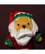 "Winnie The Pooh Disney Plush Stuffed Animal 7"" Bean Bag Dressed An Santa... - $12.78"