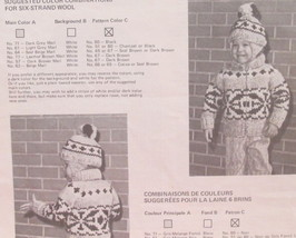 Vintage WHITE BUFFALO Knitting Patterns CHILDRENS Sweater Toque Cap TINY... - $6.95