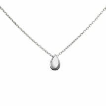 Silver Teardrop Necklace, Delicate Drop Necklace, Bridesmaid Gift for Her - $16.00