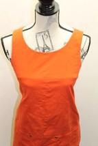 J.Crew Little Orange Women Dress Sz 2 P Mini Skirt Pinafore Sleeveless  Cotton image 2