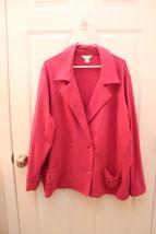 CJ C.J. Banks Christopher & Banks PLUS Size 2X Pink Sweatshirt Peacoat J... - $22.74