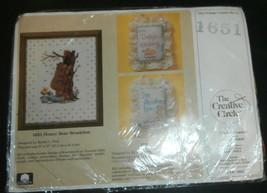 "Honey Bear Breakfast Creative Circle #1651 Cross Stitch Kit  8"" x 10"" New - $9.74"