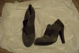 womens gianni bini gray leather high heel booti... - $46.52