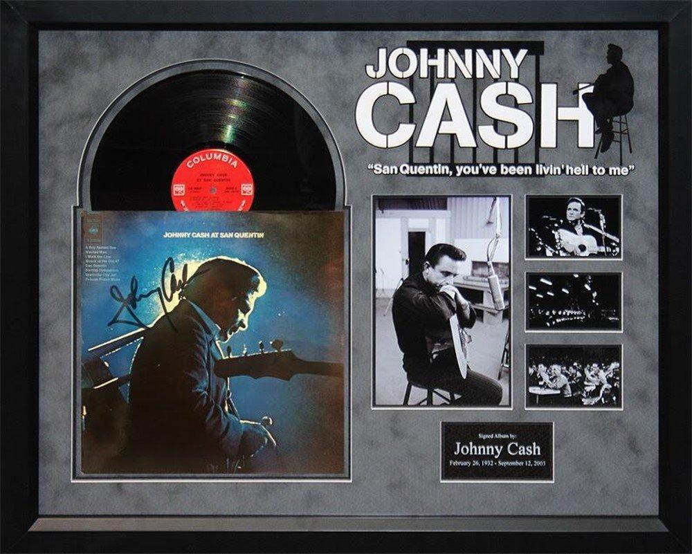 Johnny Cash - At San Quentin - Signed Album Custom Framed ...