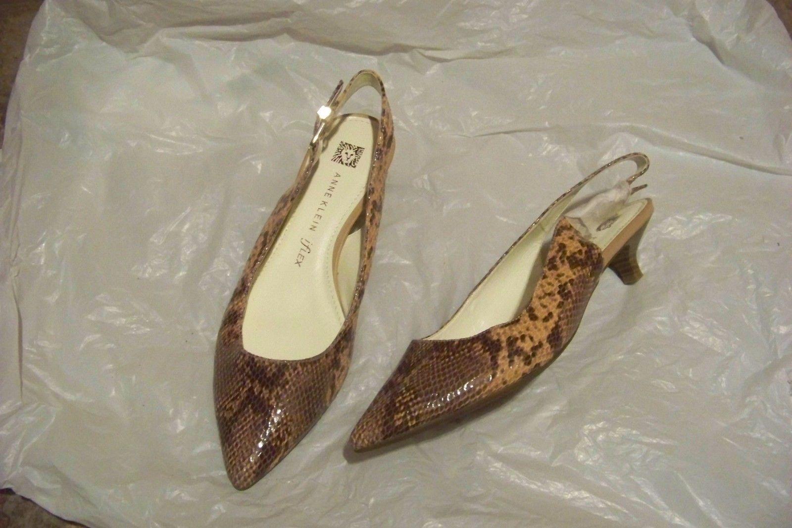 1b2b82335f29 womens anne klein iflex expert pink skin print slingback heels shoes size 7