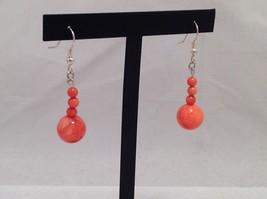 NEW Handmade Gorgeous Orange Teardrop Earrings  image 4