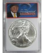 2017 Silver Eagle Donald Trump 59th Presidential Inauguration Coin AJ684 - $67.20