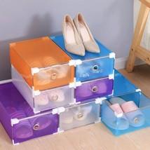 Women Men Shoe Organizers Drawer Type Storage Box DIY Plastic Foldable S... - $4.49