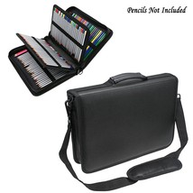 Samaz 160 Slots Pencil Case, Pu Leather Colored Pencil Holder Pen Bag (B... - $26.99