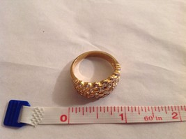 NEW Geranium Gold Toned Ring With Many Swarovski Clear Elements Size 10 image 4