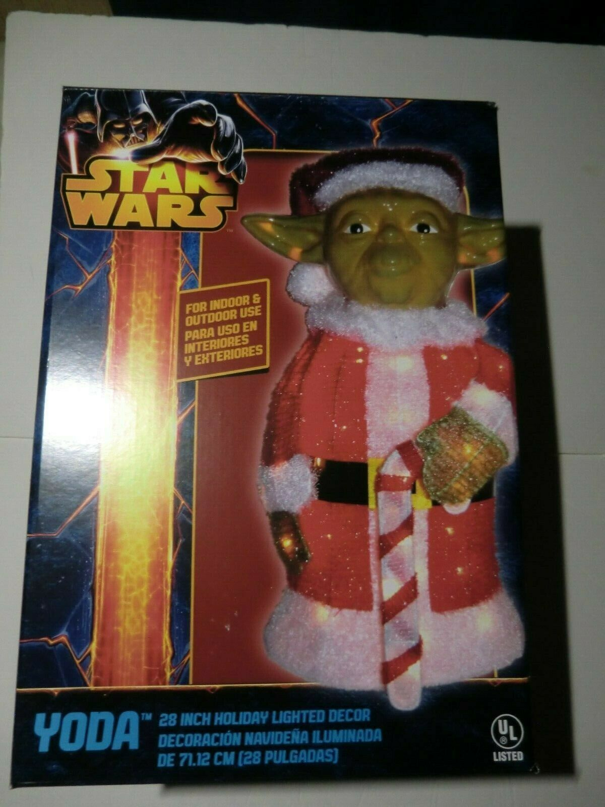 "Primary image for 28"" Star Wars 3D Yoda Christmas Indoor Outdoor Lighted Decor"