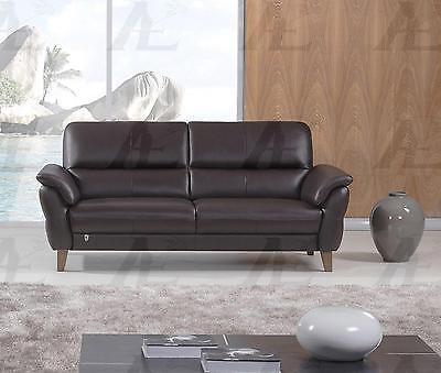 American Eagle EK073-DC Dark Chocolate Sofa Italian Leather Modern