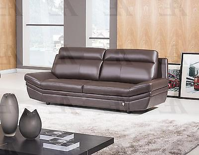 American Eagle EK075-DC Dark Chocolate Sofa Italian Leather Modern