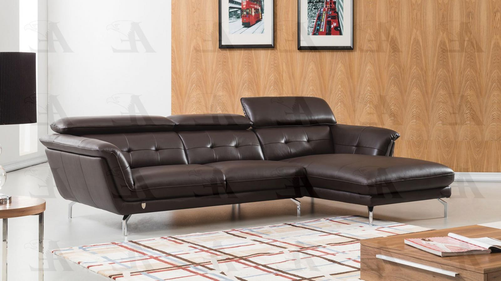 American Eagle EK-L083-DC  Sectional Sofa Right Hand Chase Italian Leather 2pcs