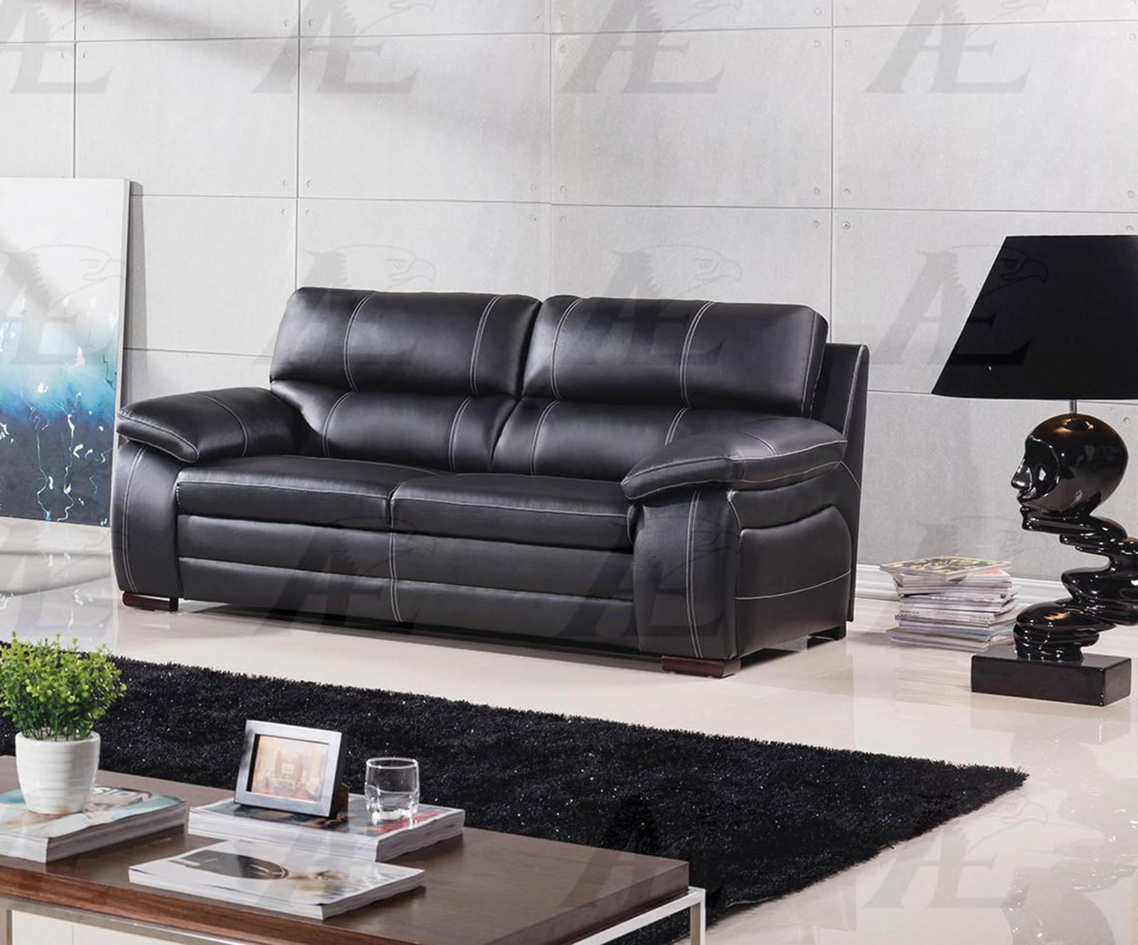 American Eagle EK-B520-BK Black Sofa Genuine Leather