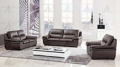 American Eagle EK-B113-DC D/Chocolate Sofa Loveseat Chair Genuine Leather 3PsSet